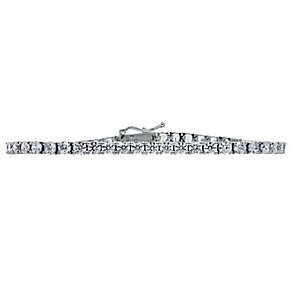 CARAT* silver brilliant round stone set tennis bracelet - Product number 2405784