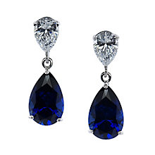 CARAT* 9ct white gold created sapphire pear drop earrings - Product number 2405792