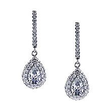 CARAT* silver stone set pear border drop earrings - Product number 2405814