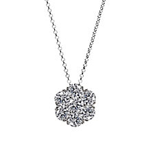 CARAT* sterling silver stone set flower pendant - Product number 2405857