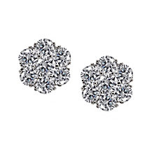 CARAT* sterling silver stone set flower stud earrings - Product number 2405865