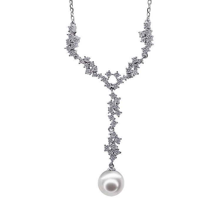 CARAT* silver simulated pearl & cubic zirconia necklace - Product number 2405954