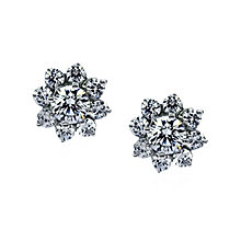 CARAT* 9ct white gold stone set cluster stud earrings - Product number 2405962