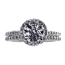 CARAT* 9ct white gold stone set pave ring size M - Product number 2406047