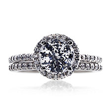 CARAT* 9ct white gold stone set pave ring size O - Product number 2406055