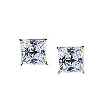 CARAT* 9ct gold stone set princess cut stud earrings - Product number 2406101