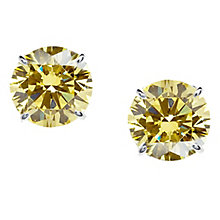 CARAT* 9ct white gold light fancy yellow stone stud earrings - Product number 2406306