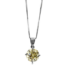 CARAT* 9ct white gold light fancy yellow stone pendant - Product number 2406314