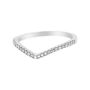 Tresor Paris silver & white gold-plated crystal ring size P - Product number 2409321