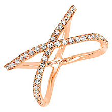 Tresor Paris Allure crystal & rose gold-plated ring size L - Product number 2409356