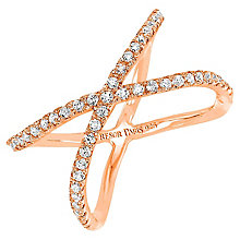 Tresor Paris Allure crystal & rose gold-plated ring size N - Product number 2409364