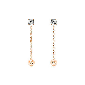 Tresor Paris rose gold-plated crystal 36mm drop earrings - Product number 2409380