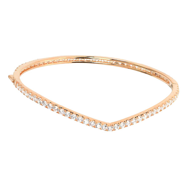 Tresor Paris Allure crystal & rose gold-plated bangle - Product number 2409402