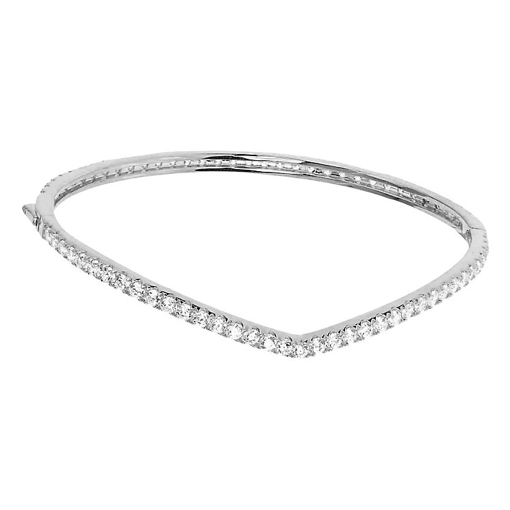 Tresor Paris Allure crystal & white gold-plated bangle - Product number 2409410