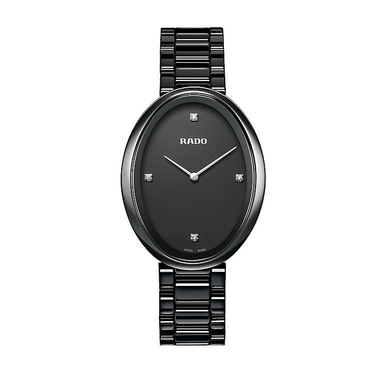 Rado Esenza ladies' oval dial black ceramic bracelet watch - Product number 2430185