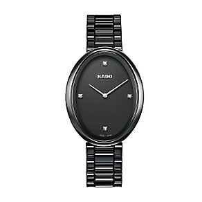 Rado Esenza ladies' oval dial black ceramic bracelet watch - Product number 2430185
