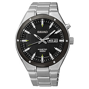 Seiko Men's Stainless Steel Kinetic Bracelet Watch - Product number 2433850