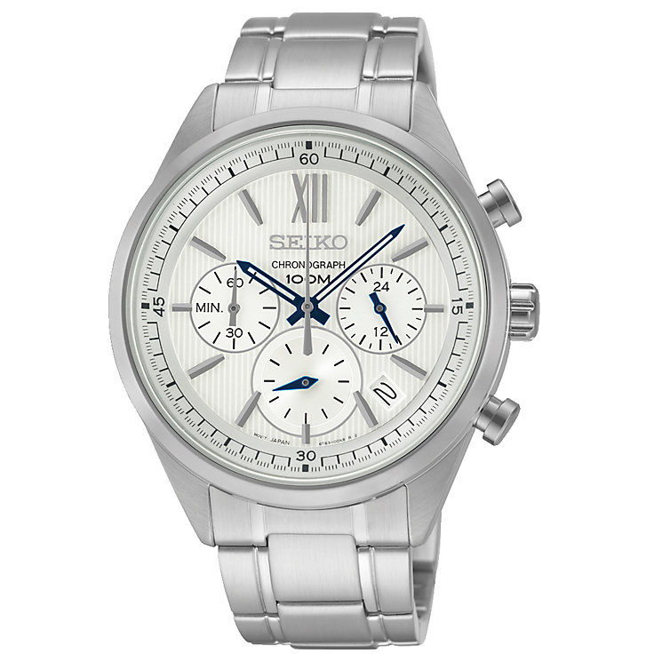 Seiko Men's Quartz Stainless Steel Chronograph Watch - Product number 2434695