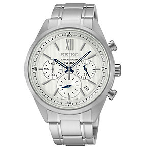 Seiko Men's Solar Stainless Steel Chronograph Watch - Product number 2434695