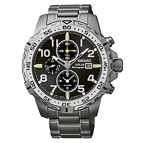 Seiko Men's Stainless Steel Solar Chronograph Watch - Product number 2435136