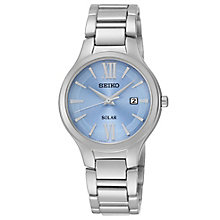 Seiko Ladies' Solar Blue & Stainless Steel Bracelet Watch - Product number 2437252