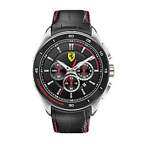 Scuderia Ferrari Grand Premio men's black strap watch - Product number 2446944