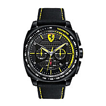 Scuderia Ferrari Aero Evo men's black rubber strap watch - Product number 2446952