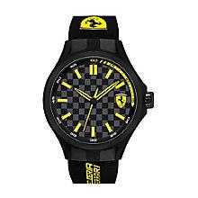 Scuderia Ferrari Pit Crew men's black rubber strap watch - Product number 2446960