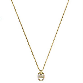 Michael Kors Maritime gold-plated stone-set pendant - Product number 2451069