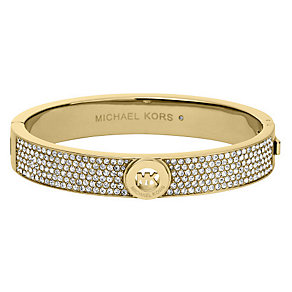 Michael Kors gold-plated stone set hinged bangle - Product number 2451549