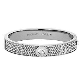 Michael Kors Fulton ladies' stainless steel stone set bangle - Product number 2451824