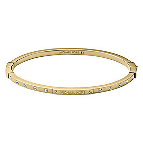 Michael Kors gold-plated stone set boxed bangle - Product number 2452529