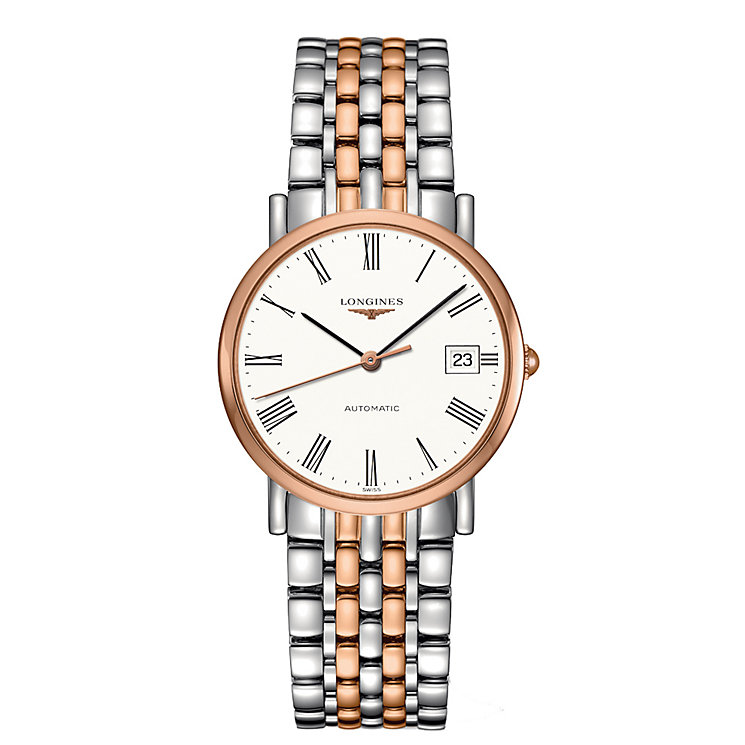 Longines Elegant men's two colour bracelet watch - Product number 2468581