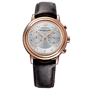 Raymond Weil Maestro men's brown leather strap watch - Product number 2469170