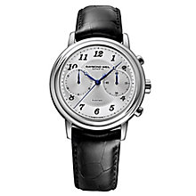 Raymond Weil Maestro men's black leather strap watch - Product number 2469189