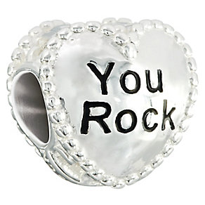 Chamilia Sterling Silver You Rock Heart Bead - Product number 2469316