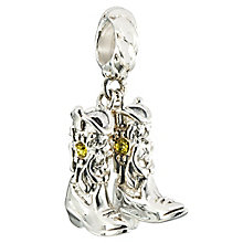 Chamilia Silver & Swarovski Crystal Cowboy Boots Bead - Product number 2469324