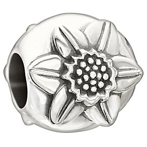 Chamilia Sterling Silver Daffodil Flower March Bead - Product number 2469359