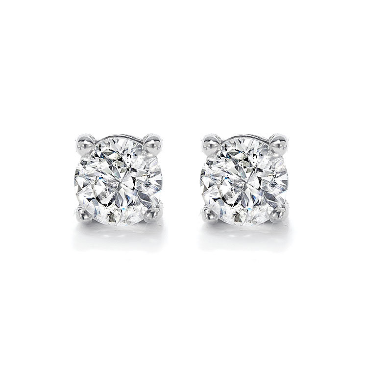 18ct white gold 0.33ct diamond F/G  VS2 solitaire earrings - Product number 2483335