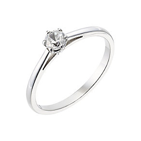 18ct white gold 0.25ct diamond H-I P1 ring - Product number 2502321