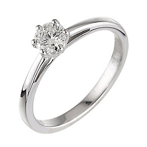 18ct white gold 0.40ct diamond H-I P1 solitaire ring - Product number 2502593