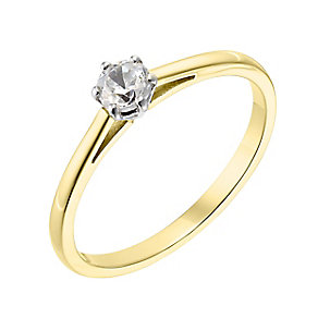 18ct yellow gold 0.25ct diamond H-I P1 ring - Product number 2503395