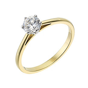 18ct yellow gold 0.50ct diamond H-I P1 solitaire ring - Product number 2503662