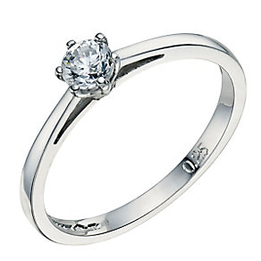 Platinum 0.25ct 6 claw diamond H-I P1 solitaire ring - Product number 2505045