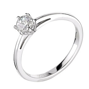 18ct white gold 0.25ct diamond H-I SI2 ring - Product number 2505428
