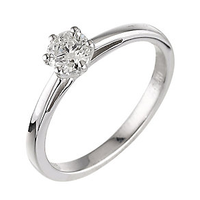 18ct white gold 0.40ct diamond H-I SI2 solitaire ring - Product number 2505703