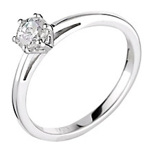 18ct white gold 0.50ct diamond H-I SI2 solitaire ring - Product number 2505851