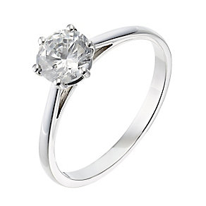 18ct white gold one carat diamond H-I SI2 solitaire ring - Product number 2506114