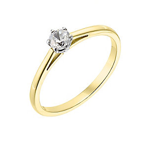 18ct yellow gold 0.25ct diamond H-I SI2 ring - Product number 2506343
