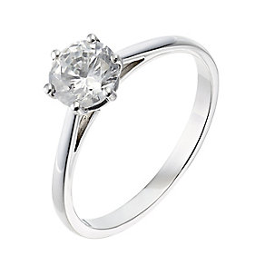 18ct platinum one carat diamond solitaire ring - Product number 2507838